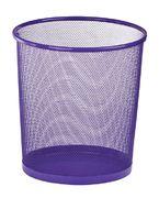 Корзина для паперів кругла 265x265x280мм, металева, фіолетовий ZB.3126-07 (1/12/240)