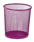 Корзина для паперів кругла 265x265x280мм, металева, рожевий ZB.3126-10 (1/12/240)