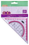Косинець 2 в 1,140мм, 90°/45°, з рожевою смужкою, блістер, KIDS Line ZB.5623-10 (1/48/960)