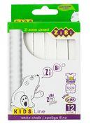 /Крейда біла квадратна 12 шт., картонна коробка, KIDS Line ZB.6703-12 (1/112/3264)