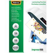 Плівка для ламінування глянсова 100мкм, 216x303мм - A4, 100шт. f.53511 (1/10/500)