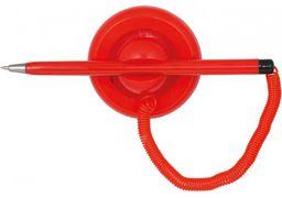 Ручка кулькова на підставці ECONOMIX POST PEN 0,5 мм. Корпус червоний, пише синім E10118-03 (1)
