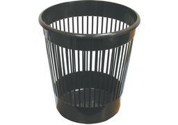 Кошик для паперу пластиковий чорний, 10л E82061 (1)