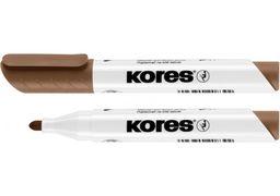 Маркер для білих дошок KORES 2-3 мм, коричневий K20838 (12)