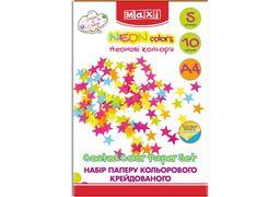 Набір паперу кольорового Неон, А4, 10арк., 5 кол., двосторонній MX21152 (5)