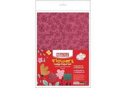Набір дизайнерського паперу Квіти А4(21x29,7 см), 120г/м2, 10арк, односторонній+5 арк А5 (21х14,8 MX61627 (10)