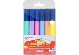 Набір текстових маркерів 6 кольторів пастель, 1-4,5 мм Highliter set O15831 Optima