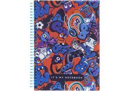 Блокнот А5, 80 сторінок клітинка, пластикова обкладинка, на спіралі Pattern 28 O20832-28 Optima