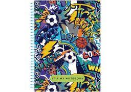 Блокнот А5, 80 сторінок клітинка, пластикова обкладинка, на спіралі Pattern 29 O20832-29 Optima