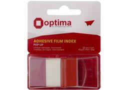 Стікери-закладки Optima, 45х25, червоні, 50 шт. O25533-03 (6)