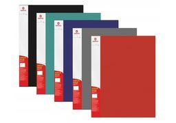 Папка А4 з 40 файлами Optima, фактура СМУГА, асорті O30674 (1)