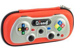 Пенал на 1 отделение, на молнии, с органайзером QT-3990-Red Cool for School