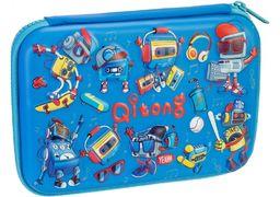Пенал на 1 отделение, на молнии, с органайзером QT-5773-Blue Cool for School
