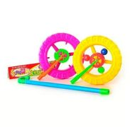 Каталка колесо, на палке, в кульке, 26-24-4 см