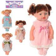 Кукла, 30 см, звук, 2 вида (2 цвета), на батарейке (таблетка), в кульке 19-38-8 см