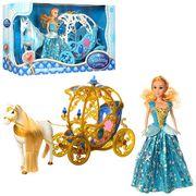 Карета с лошадью, 54 см, ходит, кукла 29 см, звук, 2 вида, на батарейке, в коробке 5633,5-17 см