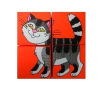 Розумна Iграшка Кубик 4. Собери картинку - Домашние животные