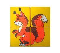 Розумна Iграшка Кубик 4. Собери картинку - Дикие животные