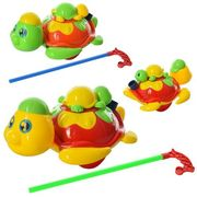 Каталка, на палке 43 см, черепаха, звук, подвижные детали, 2 цвета, в кульке 22-18-10 см