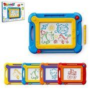 Досточка для рисования, цветная, 24 см, ручка, 4 цвета, в коробке 25-19-2,5 см
