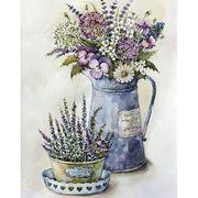 Декупаж на полотні Квіти Польові квіти 25*20 см