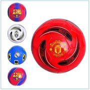 Мяч футбольный размер 5, ПВХ 1,6 мм, 2 слоя, 32 панели, 300-320 г, 5 видов (клубы)