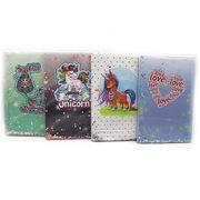 Блокнот з шейкером А5, 80 сторінок, мікс Unicorn, Love, Mermaid 0380-A5 749349 Josef Otten
