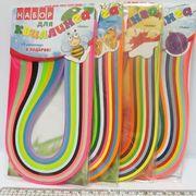 Набір кольорового паперу для квілінгу із 9 кольорів + 3 аплікації, розмір 5 мм на 420 мм Сезони Josef Otten (1/12/120)