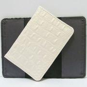 Р-3820 Обложка для паспорта Белая кожа (10)