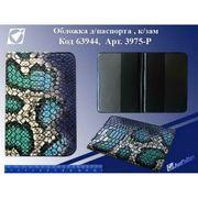 Р-3975 Обложка для паспорта Змея син. (10)