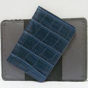 Р-4012 Обложка для паспорта Синяя кожа (10)