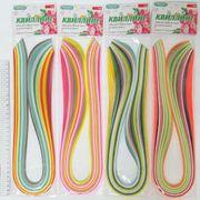 Набір кольорового паперу для квілінгу із 12 кольорів , розмір 7 мм на 700 мм Люкс колор Josef Otten (1/6/84)