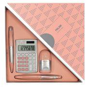 Подарунковий набір 4 предмети Silver pink Milan 08738
