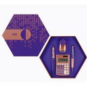 Подарунковий набір 4 предмети Copper purple Milan 08740