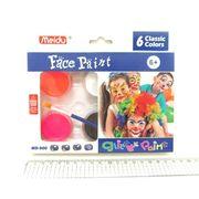 MD-900-6 (IMG4295) Набор красок для лица 6 цветов + кисть (12)