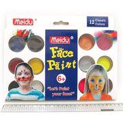 IMG4296-12 Набор красок для лица 12 цветов + 2 кисти + губка (12)