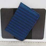 P-7202 Обложка для паспорта Синее плетение (10/400)