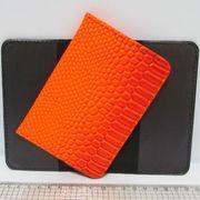 P-7225-22 Обложка для паспорта Змея оранж. (10)