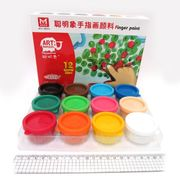 RFC1235 Краски для пальцев 12цв.*35мл, 1шт/этик. (4)