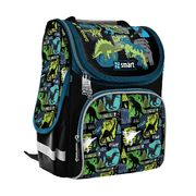 Рюкзак шкільний каркасний Dino world PG-11 Smart, ортопедична спинка, система кріплення лямок, світловідбиваючі елементи