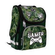 Рюкзак шкільний каркасний Best Gamer PG-11 Smart, ортопедична спинка, система кріплення лямок, світловідбиваючі елементи