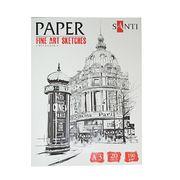 Набір паперу для графіки А3, 20 аркушів, щільність 190 г/м2  Fine art sketches Santi