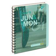 Зошит для записів А5 144 сторінки клітинка пластикова обкладинка, на спіралі Jun & Mon YES