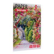 Акварельний папір А4, 18 аркушів, щільність 200 г/м2 Nature Paper Watercolour Collection Santi