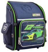 Рюкзак шкільний каркасний YES H-18 Power Рельєфна ортопедична спинка, система кріплення лямок, посилене дно, світловідбиваючі елементи