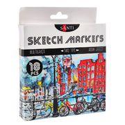 Набір скетч-маркерів 18 кольорів Santi