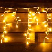 Гирлянда-штора светодиодная, электрическая. уличная, длина 5,5 м, 150 ламп, IP 65, теплый белый 801167 Yes