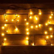 Гирлянда-штора светодиодная, электрическая. уличная, длина 5,5 м, 150 ламп, IP 65, тепло-белая Ретро 801166 Yes