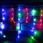 Гирлянда-штора светодиодная, электрическая. длина 210 см, 84 лампы, многоцветная 801162 Yes