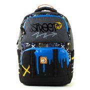 Рюкзак шкільний Juno X Graffiti Street S-30 Yes, дихаюча ортопедична спинка, система кріплення лямок, посилене дно